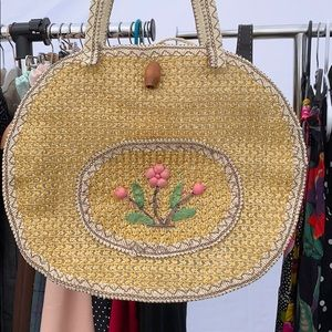 Woven vintage bag
